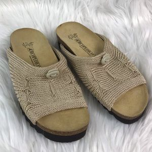 Arcopedico Tan Slide Sandals
